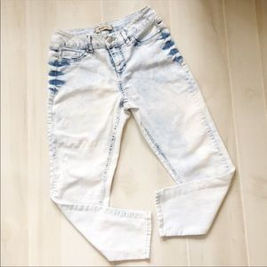 Blue Spice Skinny Jeans Bleached Size 9